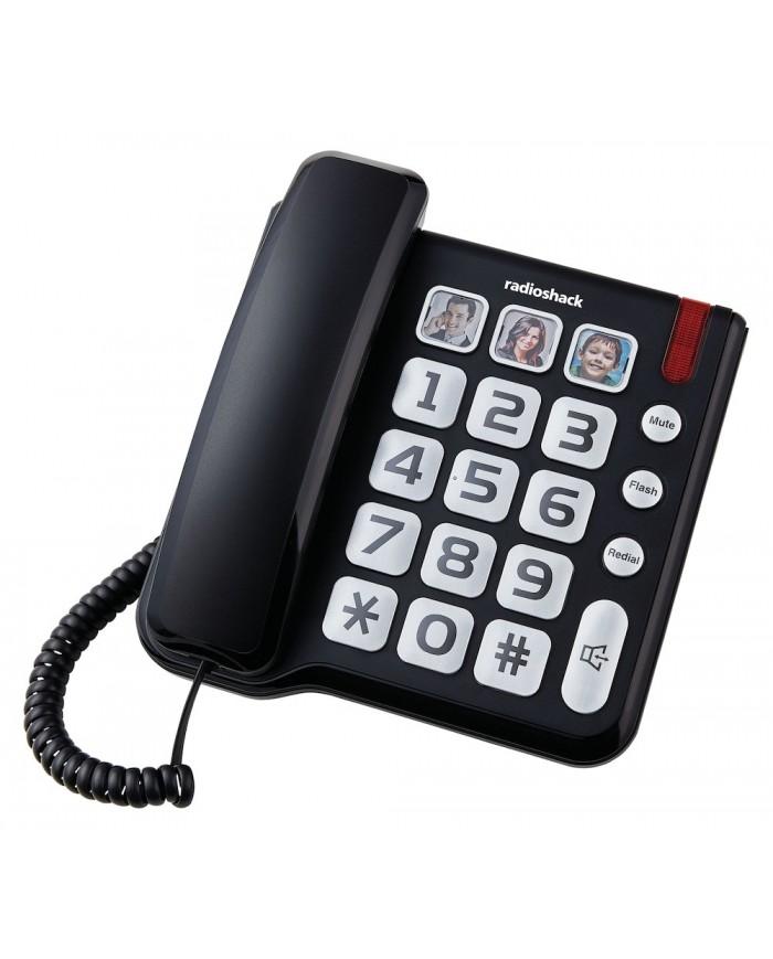 TELEFONO CUADRADO BOTON GRANDE NEGRO