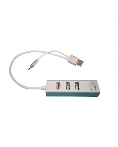 ADAP 2 EN 1 TIPO C- USB 2.0 -3USB RJ45